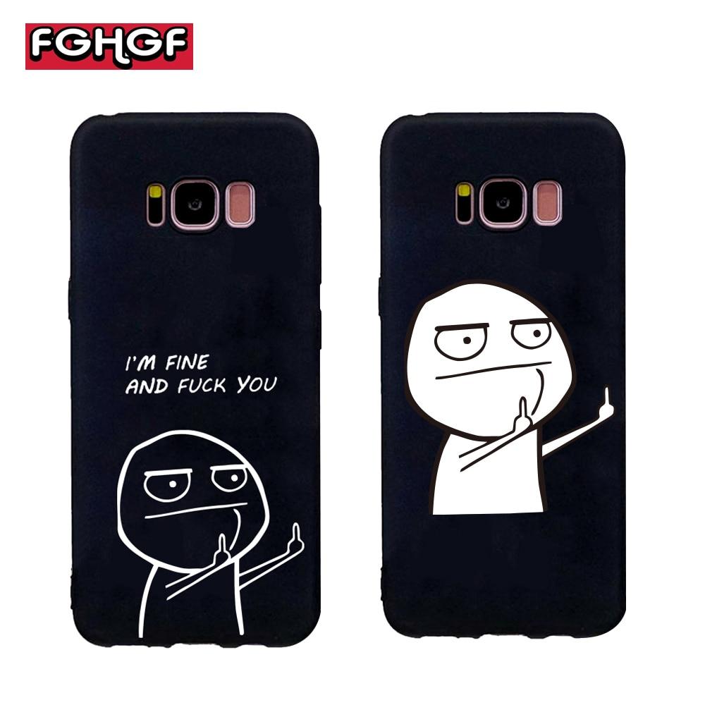 FGHGF Funny Cartoon Lovers Phone Soft Case For Samsung galaxy s6 s7 edge s8 s9 plus