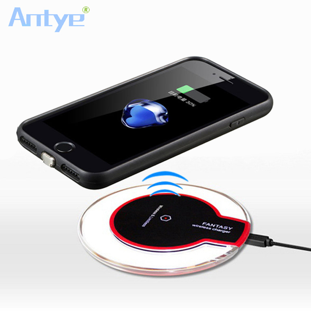 the best attitude 3085e a5df7 US $23.19 |Aliexpress.com : Buy Crystal Qi Wireless Charger Charging Pad  for Apple iPhone 7 7 Plus + Qi Wireless Charger Receiver For iphone 7 Plus  ...