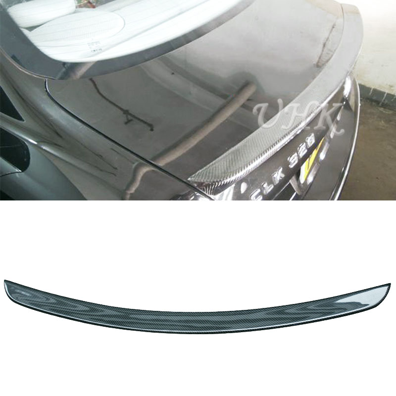 Carbon Fiber Rear <font><b>Spoilers</b></font> Trunk Fit For CLK <font><b>W209</b></font> Air Wings Mercedes Spoyler Auto Accessories Racing Decoration image