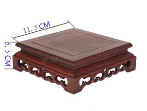 Image 2 - アナトーウェンジ木製彫刻工芸品家具の記事ベース石盆栽ポットフレームベース