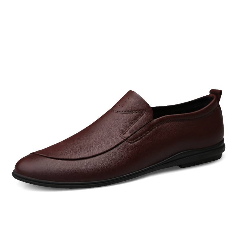 Luxury Designers Business Dresses Men Loafers Slip on Genuine Leather Single Big Size37 45 Non slip