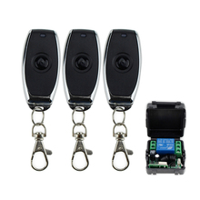 DC12V 1CH 315MHz wireless metal remote control switch with remote receiver to control electric lock 1/2/3 transmitters+1 module
