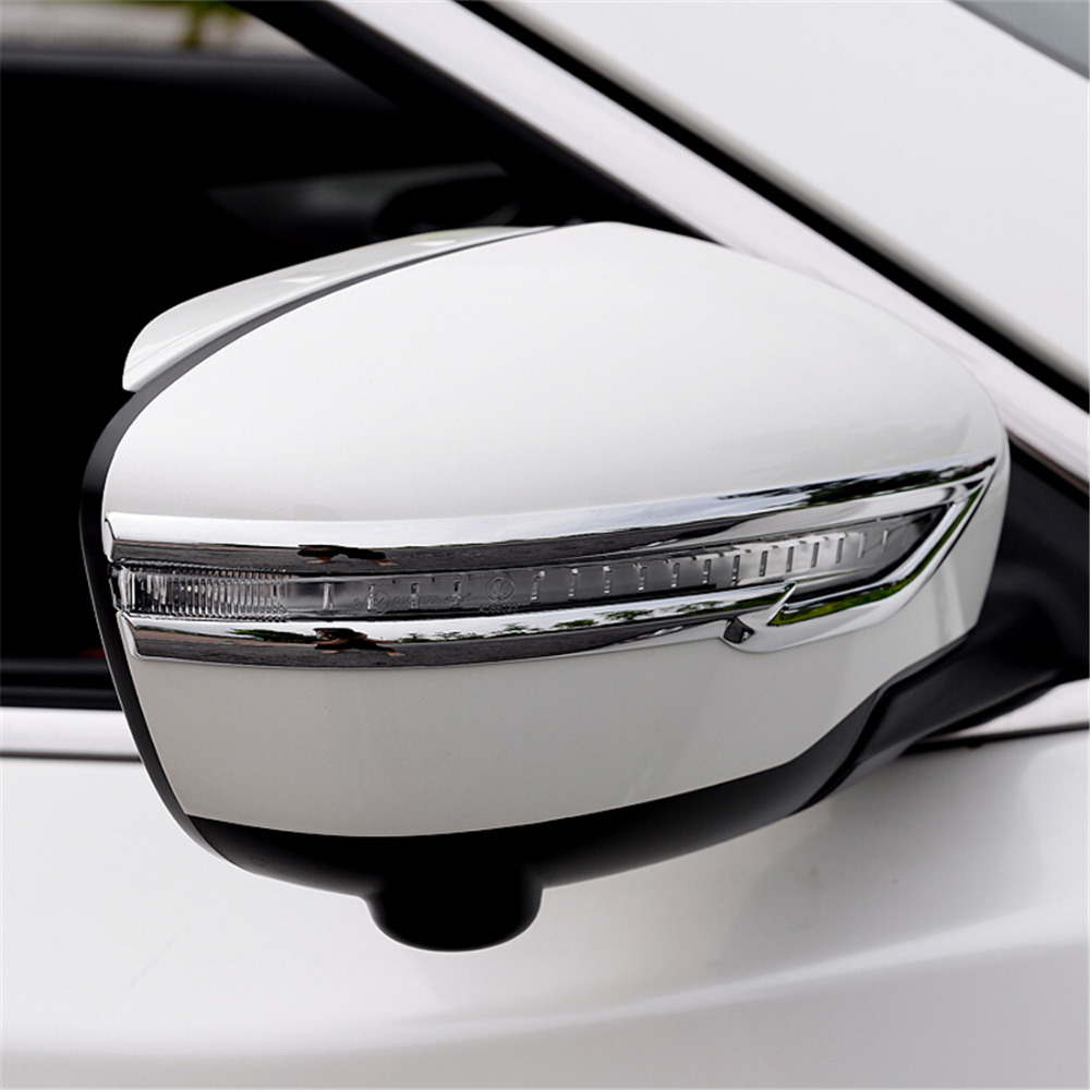Image 3 - Rearview Trim Cover For Nissan X trail Rogue T32 2014 2015 2016 Rear Mirror Sticker For Nissan Qashqai J11 X trail T32 2017 2018-in Chromium Styling from Automobiles & Motorcycles