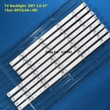 """Tira de luz de fundo led 9 lâmpada para lg 47 """"tv innotek drt 3.0 47"""" 47lb6300 47gb652v 47lb652v lc470duh 47lb5610 47lb56"""