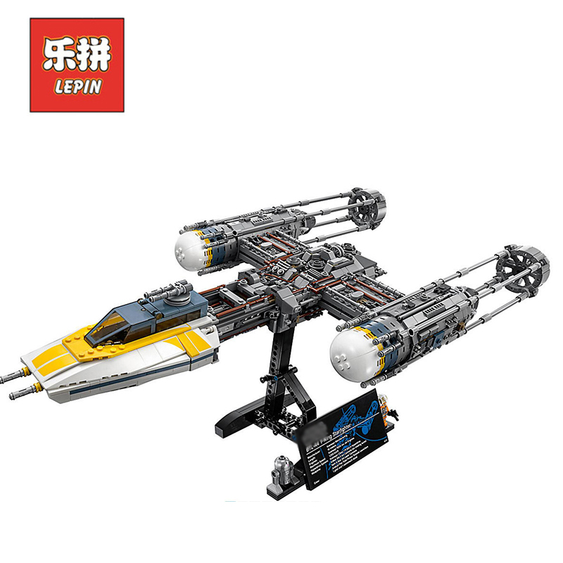 DHL Lepin Star Wars Figures 2203Pcs 05143 UCS Y-Wing Fighter Model Building Kits Blocks Bricks Educational Kid Toys Gift 75181 new 1685pcs lepin 05036 1685pcs star series tie building fighter educational blocks bricks toys compatible with 75095 wars