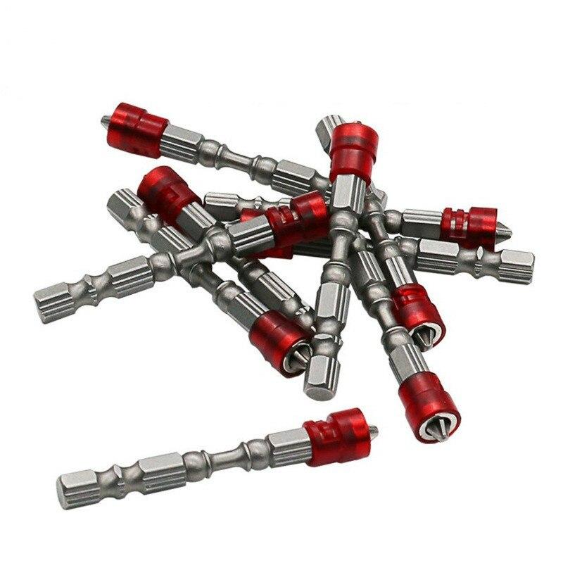 Alta qualidade única cabeça dupla anel magnético chave de fenda elétrica broca parafuso vento lote vara forte cruz