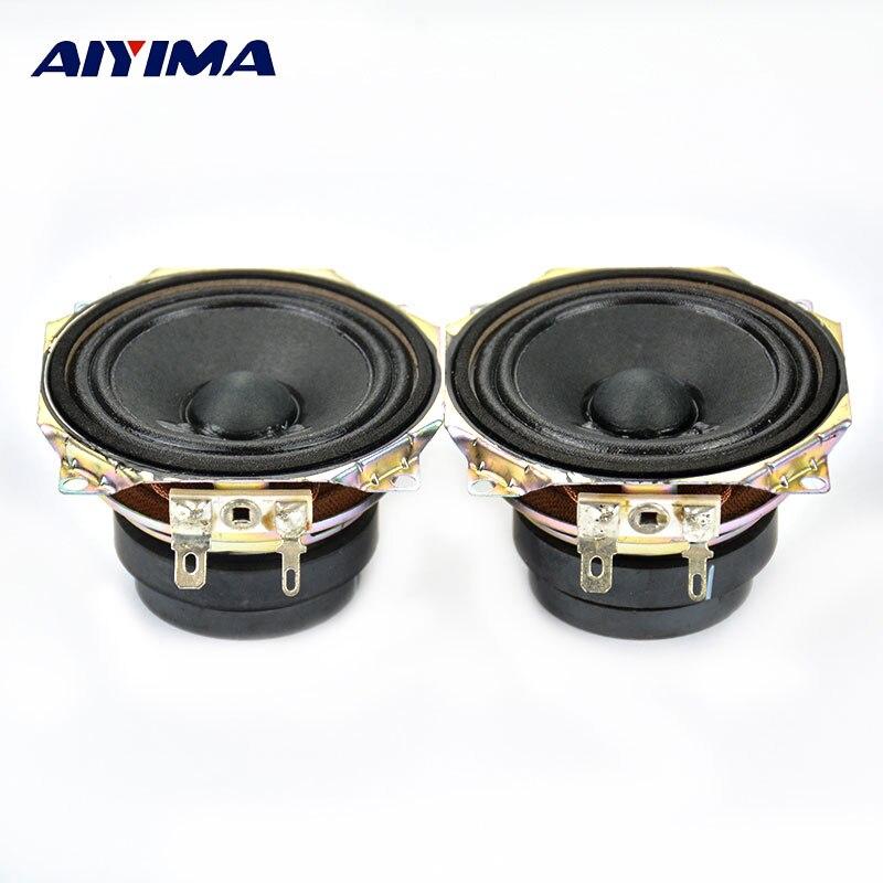 AIYIMA 2 Pz 2.5 Pollici Full Range Audio Portatile Altoparlante da 4 ohm 15 W Doppio In Acciaio Magnetico Altoparlante HT Casa Diffusori Theater