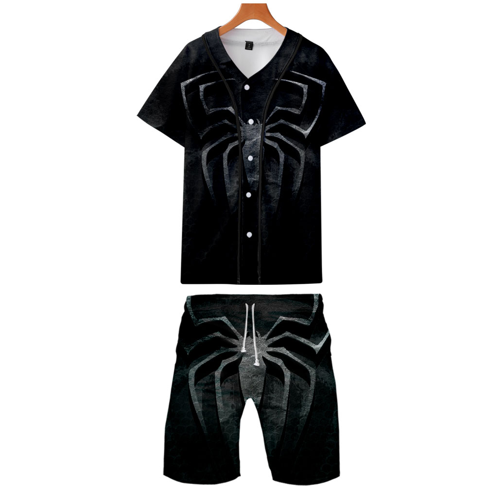 Spider Man Far From Home 3D Printed Men Two Piece Set Fashion Baseball Tshirts+Shorts 2019 Arrival Casual Trendy Clothes New