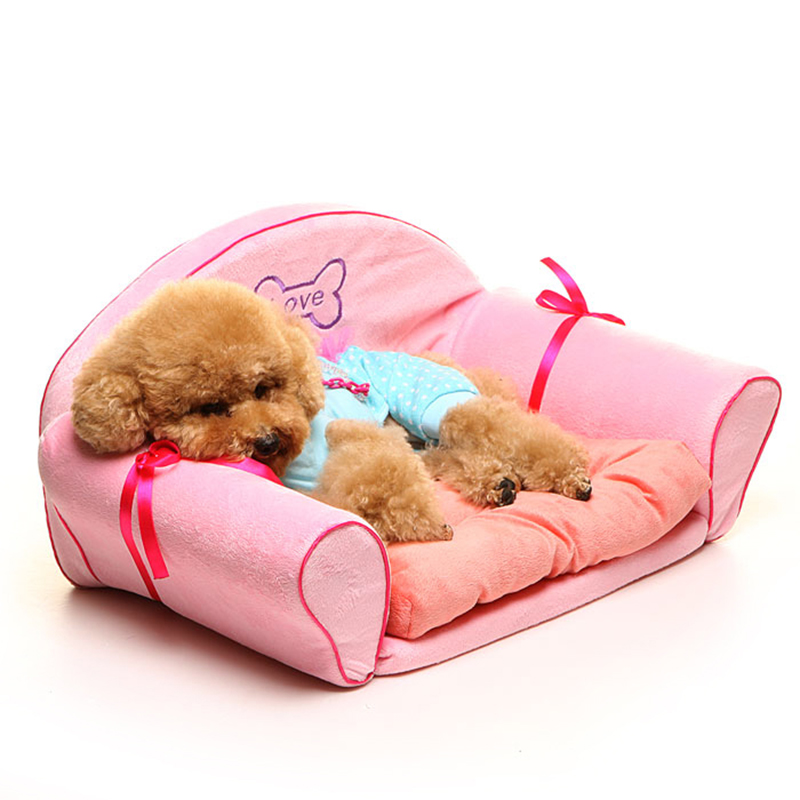 Luxury pet dog cat bed sofa house puppy small dog beds for Sofa cama pequeno