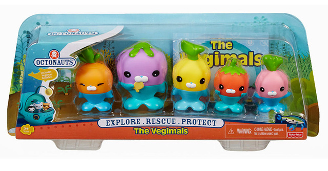 Free shipping by trackable shipping original Octonauts action figures The Vegimal child Toys 4-8cm