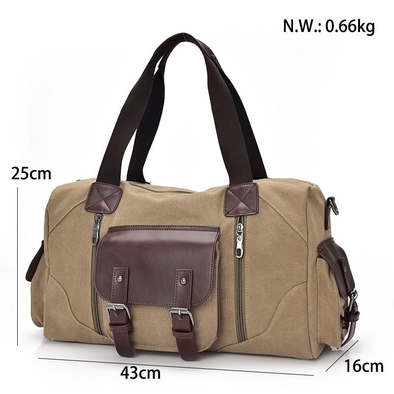 Famous Brand Men Vintage Canvas Men Travel Bags Women Weekend Carry On Luggage & Bags Leisure Duffle Bag Large Capacity Handbags (17)