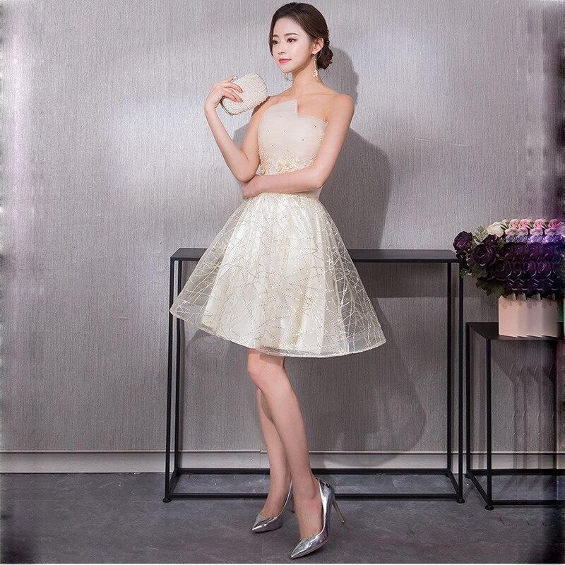 65b94a88f4 KULAZOPPER Women Elegant Long Dress Lace Beaded Starry Sky Prom Gown Off  Shoulder Strapless Evening Gown Vestido De Festa ZS288-in Dresses from  Women s ...