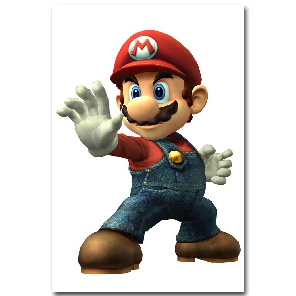 G728 Super Mario Bros Game Hot Silk Poster 36x24