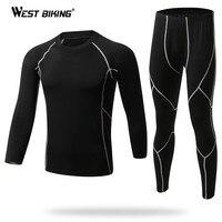 WEST BIKING Handsome Winter Base Layer Outdoor Sport Underwear Quick Dry Bike Bicycle Warm Base Layer Slim Fit Thermal Underwear