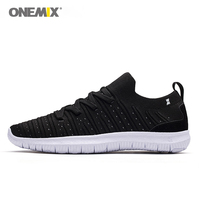 ONEMIX 2018 summer socks running shoes for men light cool breathable sneakers knitted vamp durable RB outsole socks lik sneakers