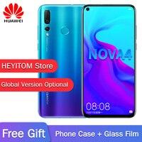 Original HUAWEI nova 4 Smartphone Global version optional 6,4 pulgadas Pantalla 8G RAM Micro inteligente i7 Android 9,0
