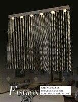 Современные Шторы прямоугольник, линия Форма кристалл потолочный светильник подвесной светильник Освещение приспособление Спальня Освещ