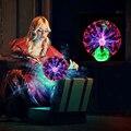 Novidade Luzes Do Feriado Bola De Plasma De Vidro Mágica Globo de Cristal Quarto Candeeiro de mesa de Toque Sensível Eletrostática Iluminação de Natal