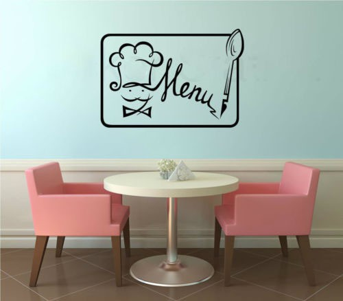 Popular restaurant wall decals buy cheap