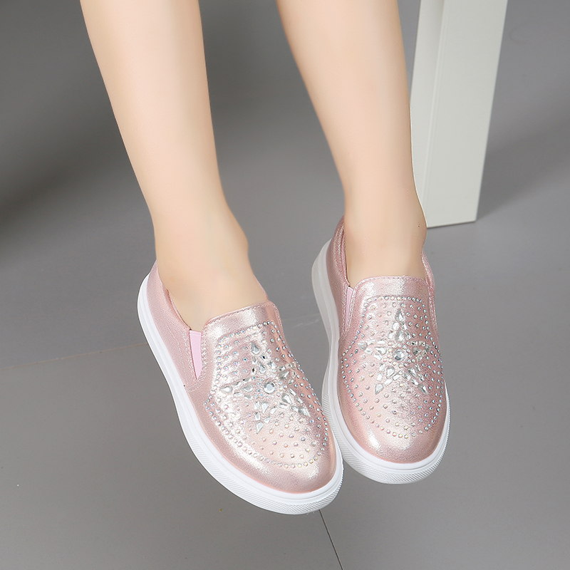 Lente Kinderen Instappen Schoenen Meisjes Casual Sneakers Glanzende - Kinderschoenen - Foto 4