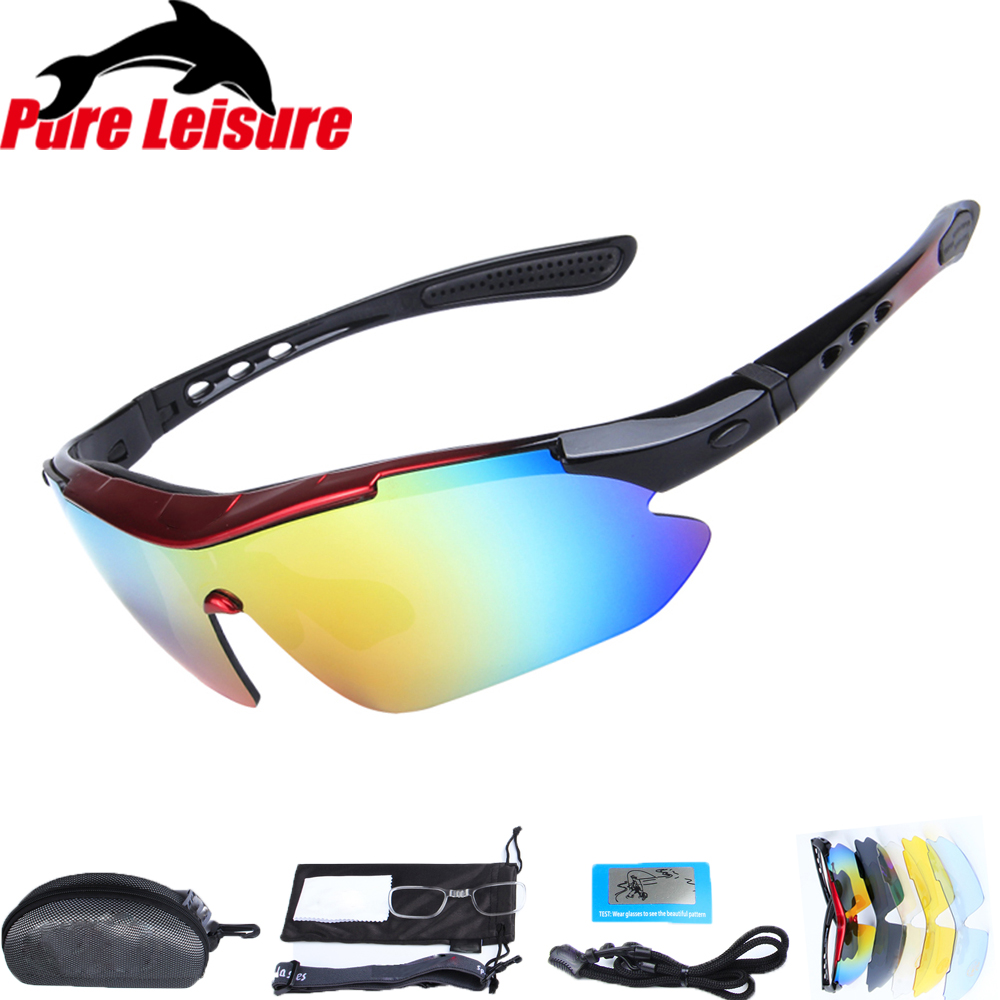 PureLeisure Sport Sunglasses Women Polarized Fishing Eyewear Oculos Polorizado Pesca Polarized Fishing Sunglasses 1Set 5 Lens