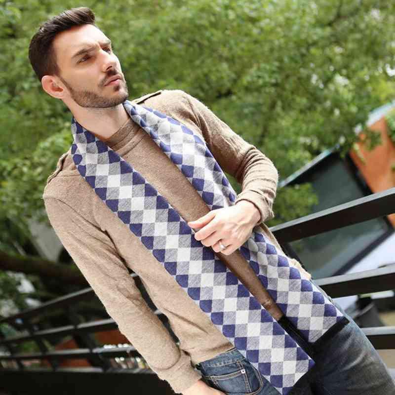 Winter England Style Colourful Plaid Bufandas Brand Men Business Scarf Cotton Rhombus font b Tartan b