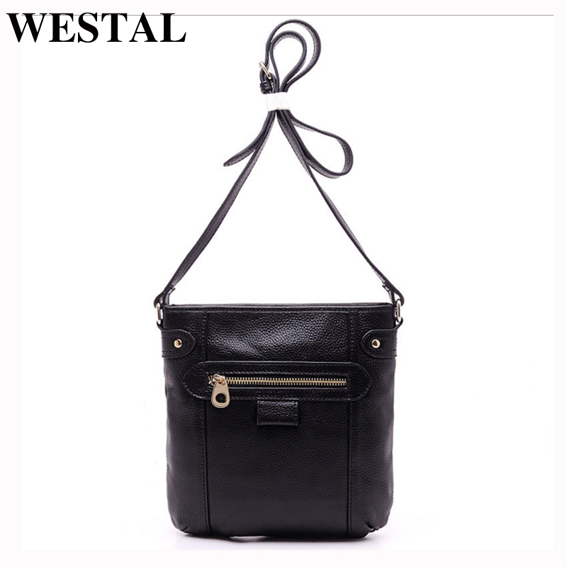 WESTAL Genuine Leather Women Bag Women Messenger Bags Small Shoulder Crossbody Bags Women's Leather Bag Female Flap Handbag genuine leather women messenger bags rivet small flap shoulder bag crossbody bags designer brand ladies female clutch hand bags