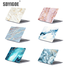 Купить с кэшбэком Marble CaseTexture Laptop Case For MacBook 11Air 13Pro Retina for Apple macbook Pro with Touch Bar13 15 marble protective shell