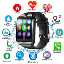 Smart Watch With Camera Q18 Bluetooth Men Women Smartwatch SIM TF Card Slot Fitness Activity Tracker Sport Watch For IOS Android стоимость