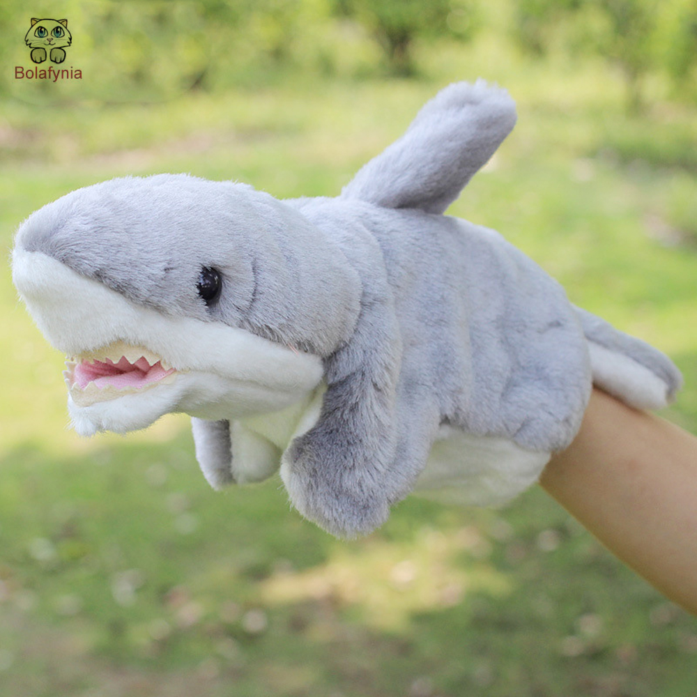 Considerate Bolafynia Children Hand Puppet Toys Grey Blue Shark Infant Baby Kid Plush Stuffed Toy For Christmas Birthday Gifts Suitable For Men And Women Of All Ages In All Seasons Dolls & Stuffed Toys Toys & Hobbies