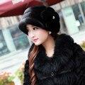 Русский реального норки шляпа женский зима норки меховая шапка мода свободного покроя горох крышка MZ098