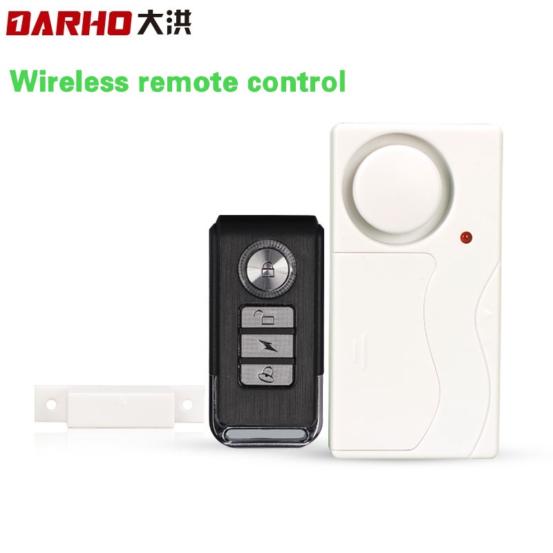 Darho Wireless Magnetic Window Door Sensor Detector Remote Control Entry Detector Anti-Theft Home Security Alarm System