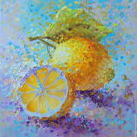 Full square/Round drill Diamond embroidery lemon 5D DIY diamond Painting Cross Stitch Rhinestone Mosaic HYY