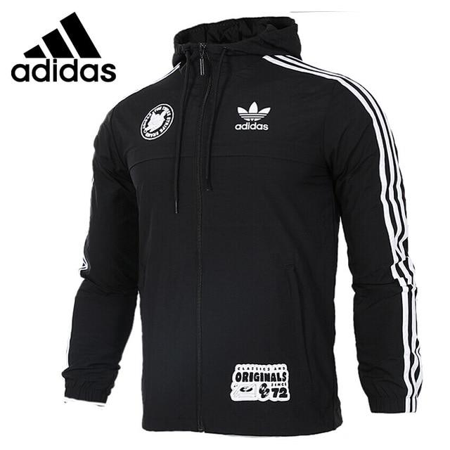 US $140.2 |Original Neue Ankunft 2017 Adidas Originals Abzeichen Windschutz männer jacke Kapuze Sport in Original Neue Ankunft 2017 Adidas Originals