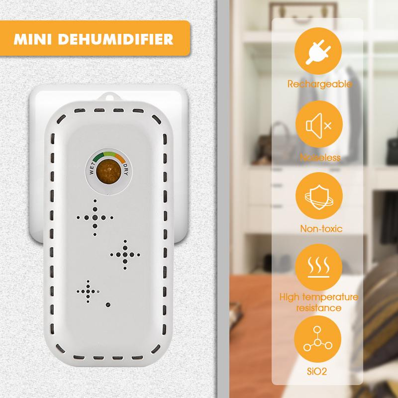 110V/220V Mini Dehumidifier Rechargeable Cordless  Dehumidifier Practical Absorbing