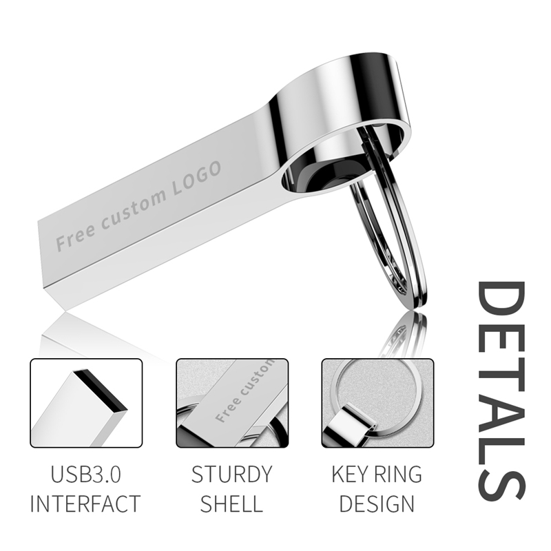 Sale Metal Usb Flash Drive 32GB 64GB USB 2 0 128GB Pen Drive Silver Bracelet Flash Memory 8GB 16GB 4GB U Disk Free Print LOGO in USB Flash Drives from Computer Office