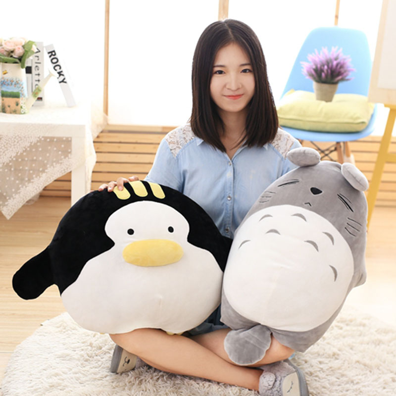 super soft 60cm Totoro plush toy penguin stuffed soft doll cute big animal plush toy kids baby toy gift for children