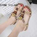 Plus Size 42-45 Novo Estilo Mulheres Sandálias Flats Boemia Nacional frisado Tamanho de Comércio exterior Sapatos de Verão Sapatos Femininos Sapatos Quentes vender