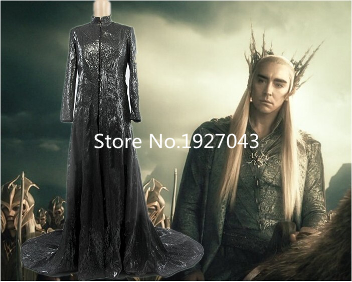The Hobbits Mirkwood Elf King Thranduils Coat The lord of the Rings Cosplay Costume acce ...