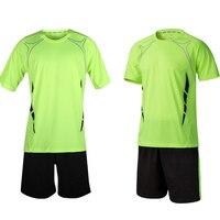 New Men Boys Soccer Training Suits Survetement Football 2017 Sport Blank Football Jerseys Set Jogging Football