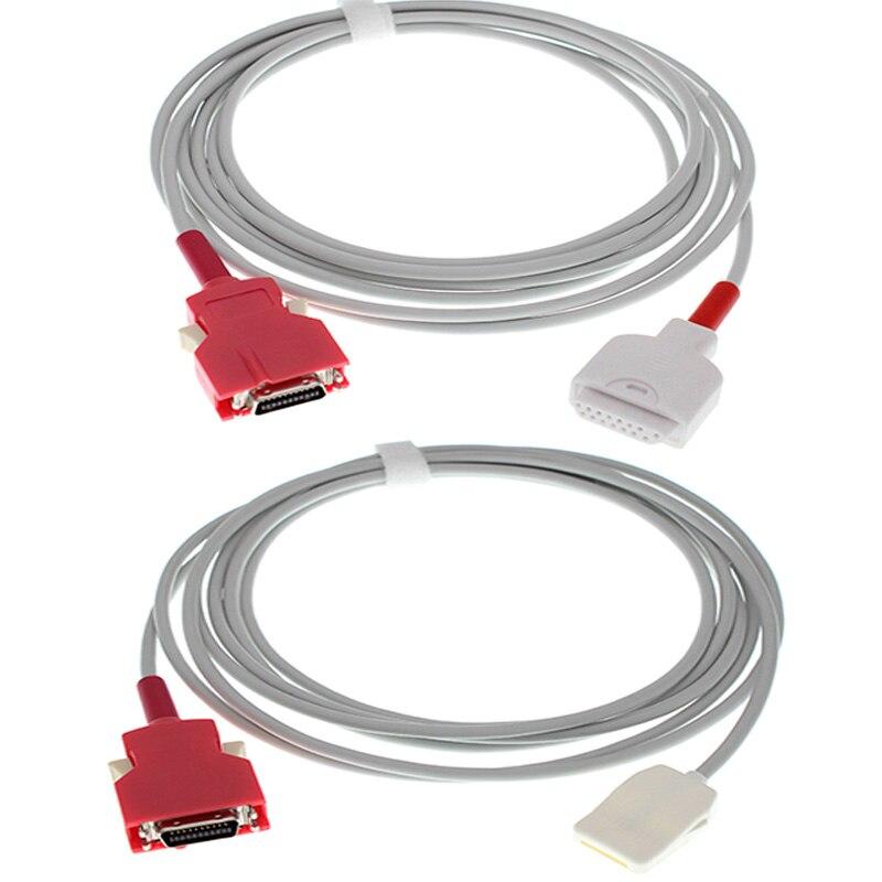 Verwenden für Masimo Rad-5/6/7/8 monitor die AMP 20PIN zu DB15P F/LNOP (oximax) spo2 sensor sonde adapter/verlängerung kabel