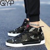 GYP 2018 Canvas Mens Running Shoes Autumn New Arrival Comfortable Camouflage Sneakers For Male Youth Shoes Big size 39~45 DP 164