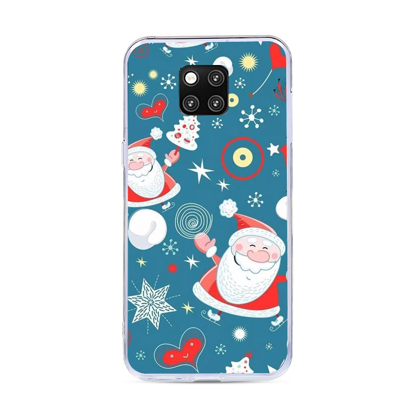 For Huawei Mate 20 Pro Mate 20 Lite Case Merry Christmas Case Cover For Huawei Mate 20 Pro P20 Lite Pro Soft TPU Fundas