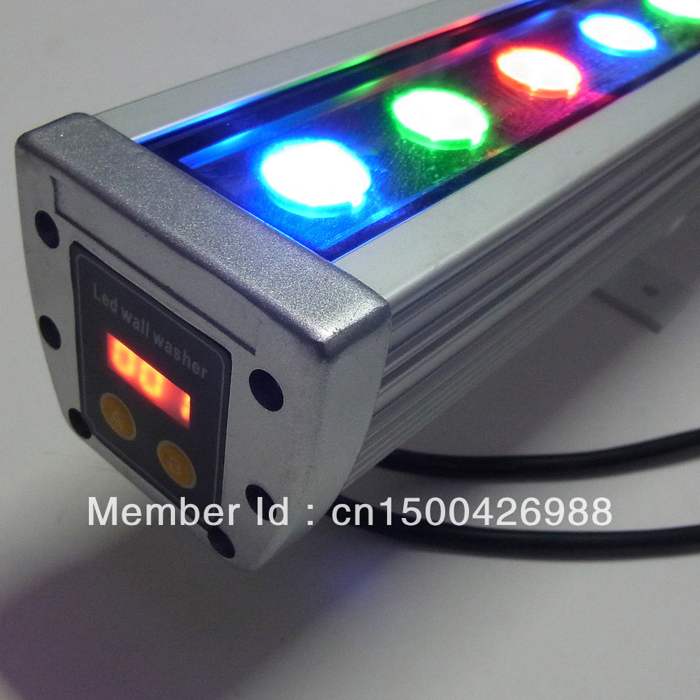 36W led wall washer DC 24V DMX 512 Control RGB change color LED flood lights Warranty 3 Years High Quality LED clearance light dc 24 v 36w rgb led wall washer light full color 1200 70 71mm
