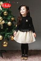 &E-babe&Wholesale new 2016 autumn girl Long sleeve Princess dress FreeShipping