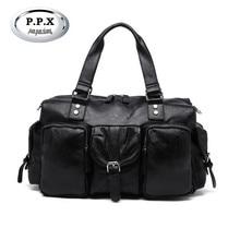 Business High Quality PU Handbag Multi Pocket Duffel Bag Waterproof Leather Classic Men's Luggage Travel Bags M589