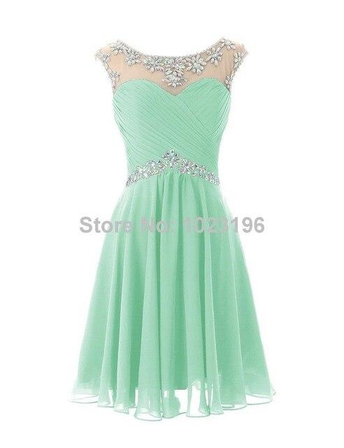 Vestidos elegantes cortos verde menta