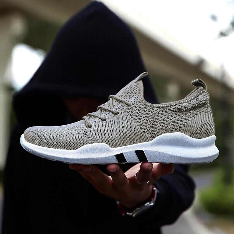 DAFENP Plus Size Mannen Gevulkaniseerd Schoenen Mannelijke Sport Lace up Platte Schoenen Casual Mesh Ademend Sneakers mannen tenis masculino