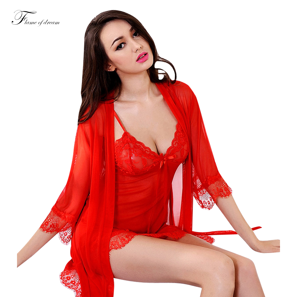 Popular Long Nightgown Robe Set-Buy Cheap Long Nightgown ...