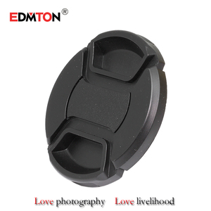 49 52 55 58 62 67 72 77 82 mm Center Pinch Snap-on Front Lens Cap for camera Lens Filters with Strap(China)